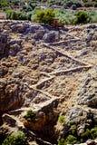 Aradena gorge. Pedestrians footpath to Aradena gorge in West Crete Stock Photo