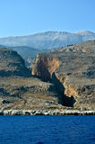 Aradena gorge. Beautiful view on Aradena gorge in Crete, Greece Royalty Free Stock Photography