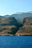 Aradena gorge. Beautiful view on Aradena gorge in Crete, Greece Royalty Free Stock Photos