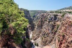 Aradena Gorge, Crete island, Greece.  Royalty Free Stock Photography