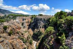 Aradena Gorge, Crete island, Greece.  Royalty Free Stock Photos