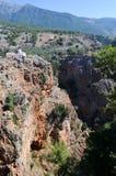 Aradena gorge. Deep Aradena gorge in west region of Crete Stock Photo