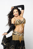 Aradia. A belly dancer waves silk while performing is las las vegas show Stock Images