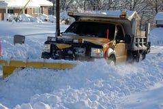 Arado de la nieve Fotos de archivo libres de regalías