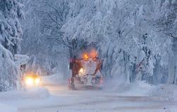 Arado de la nieve Imágenes de archivo libres de regalías