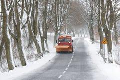 Arado de nieve Imagen de archivo libre de regalías