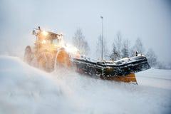 Arado de nieve Fotos de archivo libres de regalías
