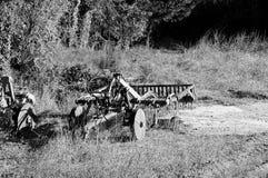 Arado isolado na madeira Imagens de Stock Royalty Free
