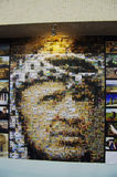 Arafat's picutre in Palestine Pavilion Expo2010. The former Palestinian leader Yasser Arafat's pictrure was made from various photos.This picture was showed in Stock Photography