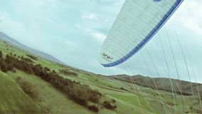 Aragliding, Skydiving, Flying Sports vintage. Parasailing, Paragliding, Skydiving, Flying Sports vintage stock footage