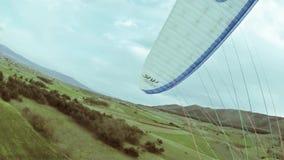 Aragliding, Skydiving, Vliegende Sportenwijnoogst stock footage