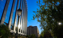 Aragon avenue in Valencia modern buildings. At Spain Royalty Free Stock Photography