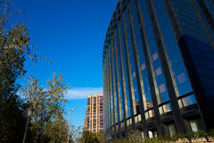 Aragon avenue in Valencia modern buildings. At Spain Stock Images