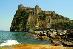Aragon Castle. In Ischia, an island in Neaples' bay Royalty Free Stock Photo