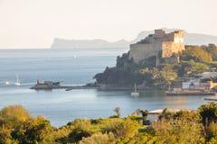Aragon castle at Baia. Pozzuoli, Naples Stock Photography