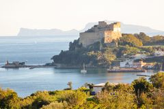 Aragon castle at Baia. Pozzuoli, Naples Stock Image