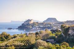 Aragon castle at Baia. Pozzuoli, Naples Royalty Free Stock Photos