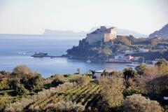 Aragon castle at Baia. Pozzuoli, Naples Stock Images