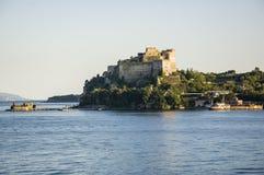 Aragon castle at Baia, Pozzuoli, Naples. View of the Aragon castle in Baia, Pozzuoli, Naples Italy Royalty Free Stock Photos