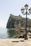 Aragon castle, ischia. View of aragon castle in ischia, italy Royalty Free Stock Images