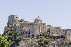 Aragon castle, ischia. View of aragon castle in ischia, italy Stock Image