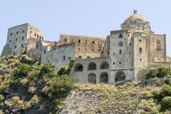 Aragon castle, ischia. View of aragon castle in ischia, italy Stock Images
