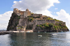 Aragon castle of Ischia Royalty Free Stock Images