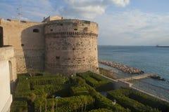 Aragon castle in Taranto, Italy. Aragon castle on the coast of Ionian sea in Taranto, Southern Italy Royalty Free Stock Photography