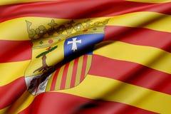 Aragon flag Stock Image