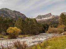 Aragon Subordan flod Arkivbild