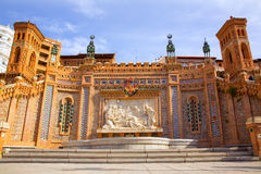 Aragon Teruel Amantes fountain in La Escalinata Spain Royalty Free Stock Photography