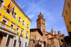 Aragon Teruel Cathedral and Ayuntamiento Town Hall Spain Royalty Free Stock Photos