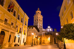Aragon Teruel Cathedral Santa Maria unesco and City hall Royalty Free Stock Photography