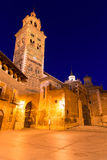 Aragon Teruel domkyrkaSanta Maria Unesco arv Spanien arkivfoto