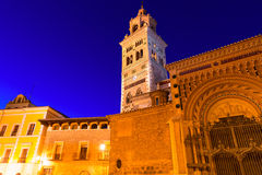 Aragon Teruel domkyrkaSanta Maria Unesco arv Spanien Arkivbilder