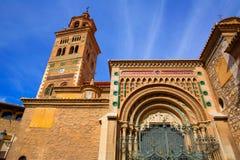 Aragon Teruel Mudejar Cathedral Santa María Mediavilla UNESCO. Heritage in Spain Stock Photography
