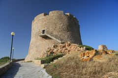 Aragon tower. Of Santa Teresa di Gallura, Sardinia Stock Photos