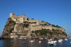Aragonese城堡,坐骨 库存图片
