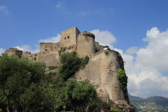 Aragonese城堡,意大利 免版税图库摄影