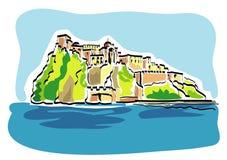aragonese城堡 库存图片