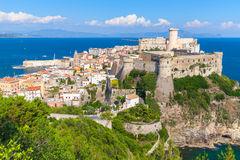 Aragonese-Angevine Castle on the hill in Gaeta. Aragonese-Angevine Castle on the hill in old town of Gaeta, Italy Royalty Free Stock Photo