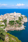 Aragonese-Angevine Castle in old town of Gaeta. Italy. Vertical photo Royalty Free Stock Photography