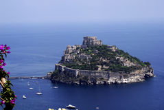 aragonese castello ischia Obrazy Royalty Free
