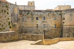 Aragonese Castle του Οτράντο στο νότιο μέρος της Ιταλίας Στοκ Εικόνες