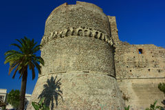Aragonese castle. Ruins of aragonese castle in reggio calabria, southern italy Royalty Free Stock Photos
