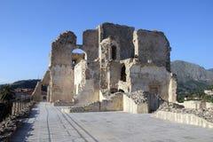 Medieval fiumefreddo. The aragonese castle of fiumefreddo del bruzio in italy royalty free stock images