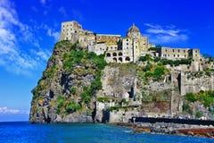 Aragonese castle. Impressive Aragonese castle - Ischia island,Italy Stock Photography