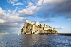 Aragonese castle in sunset light, Ischia island - Italy