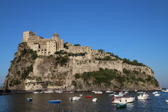 Aragonese castle, Ischia. Aragonese castle in Ischia island in Italy Stock Images