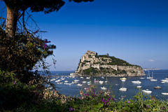 Aragonese castle Ischia island  Italy Royalty Free Stock Photo